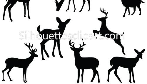 500x288 Deer Silhouette Clipart