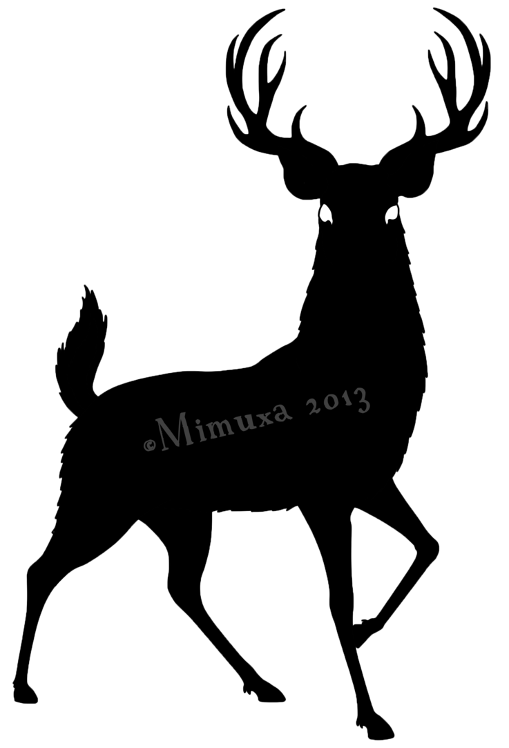 737x1083 Deer Silhouette By Mimuxa