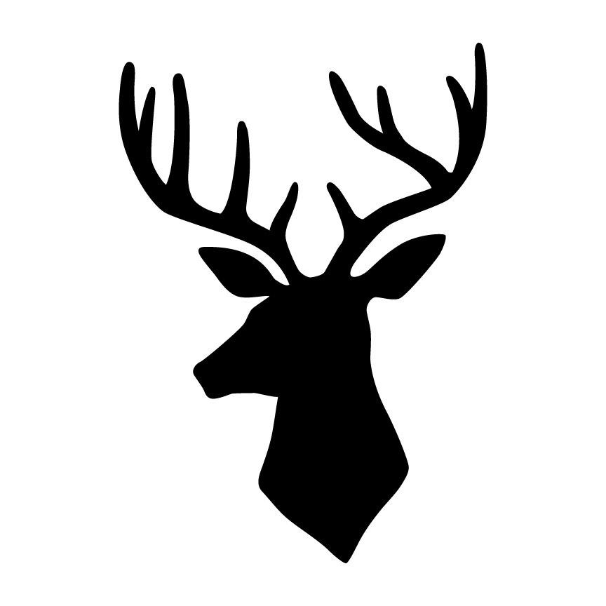 864x864 Deer Head Stencil
