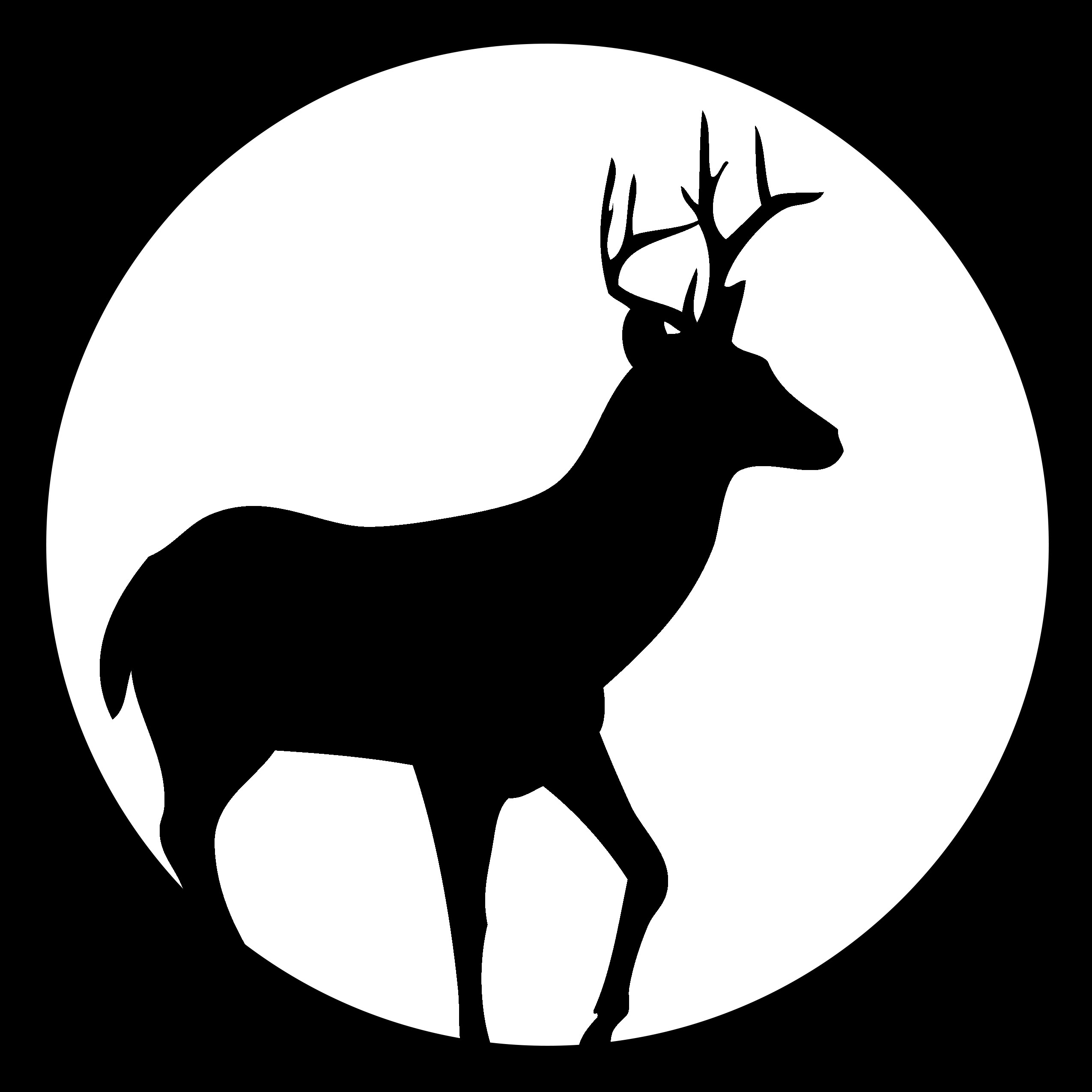 photo regarding Printable Deer Plaque Template called Deer Silhouette Stencil at  Free of charge for