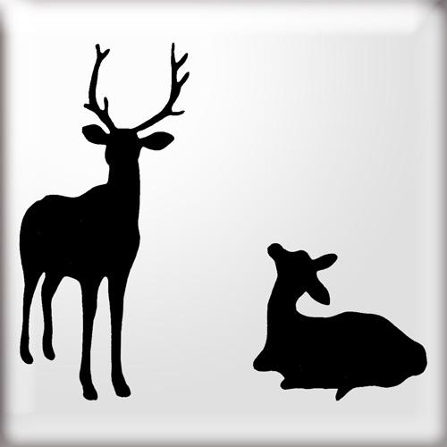 500x500 Baby Deer Stencil