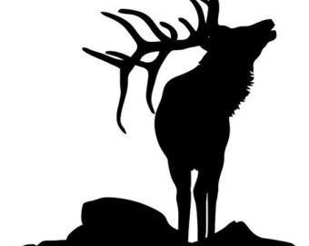 340x270 Deer Stencil Nordic Scandinavian Template Card Making Plaque