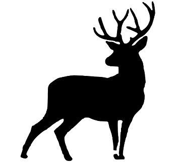 355x332 Pack Of 3 Full Buck Deer Stencils Made From 4 Ply Mat