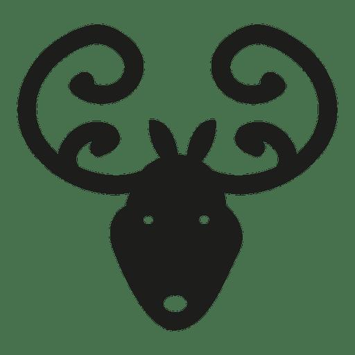 512x512 Deer Head Icon Silhouette