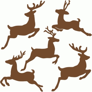 300x300 Flying Reindeer Set Silhouette Design, Silhouette And Xmas Crafts
