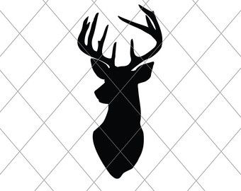 340x270 Stag Silhouette, Svg, Cut File, Christmas Decor Svg, Vector File