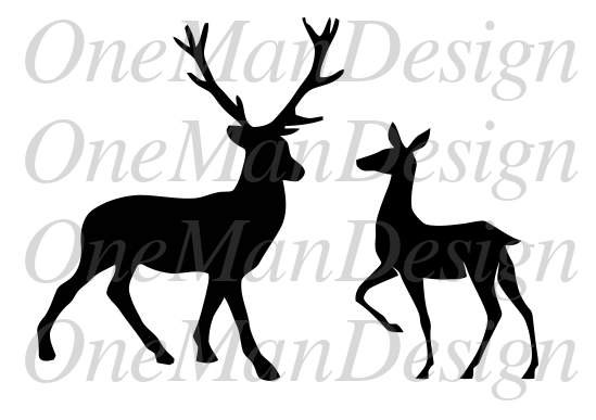 549x387 Buck Clipart Stag And Doe