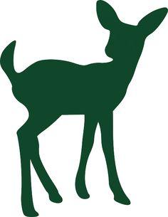 236x305 Set Vector Deer Silhouettes