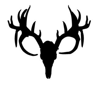 320x283 Deer Skull Silhouette Decal Sticker