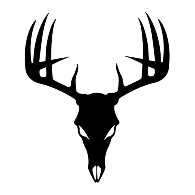 800x800 Hotmeini Buck Skull Decal Hunting Deer Hunter Antlers Stickers Car