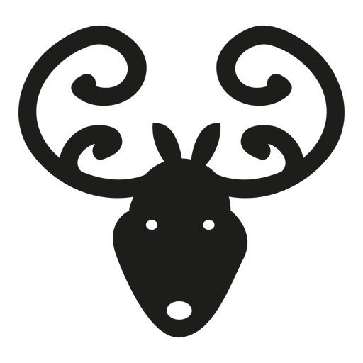 512x512 Deer Head Icon Silhouette
