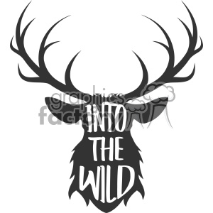 300x300 Royalty Free Into The Wild Deer Svg Cut File Vector Design 403017