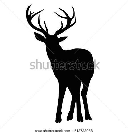 450x470 Silhouette Deer Vector, Illustration Illustration Of A Deer
