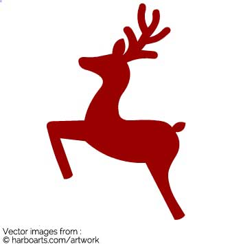 335x355 Download Jumping Reindeer Silhouette