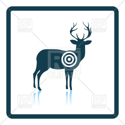 400x400 Shadow Reflection Design Of Deer Silhouette With Target Royalty