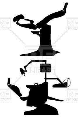 267x400 Gynecological And Dental Chair Silhouette Royalty Free Vector Clip