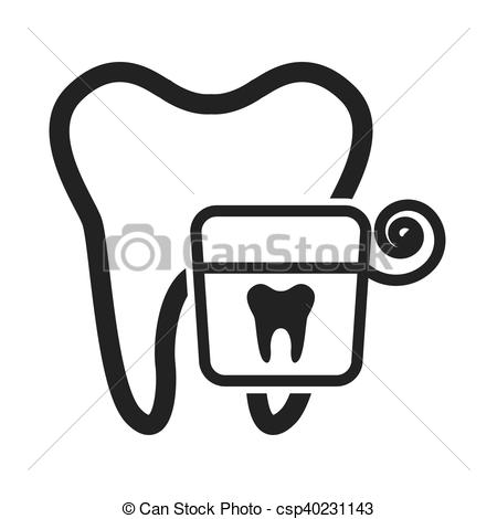 450x470 Tooth Silhouette With Dental Care Icon Vector Illustration Eps