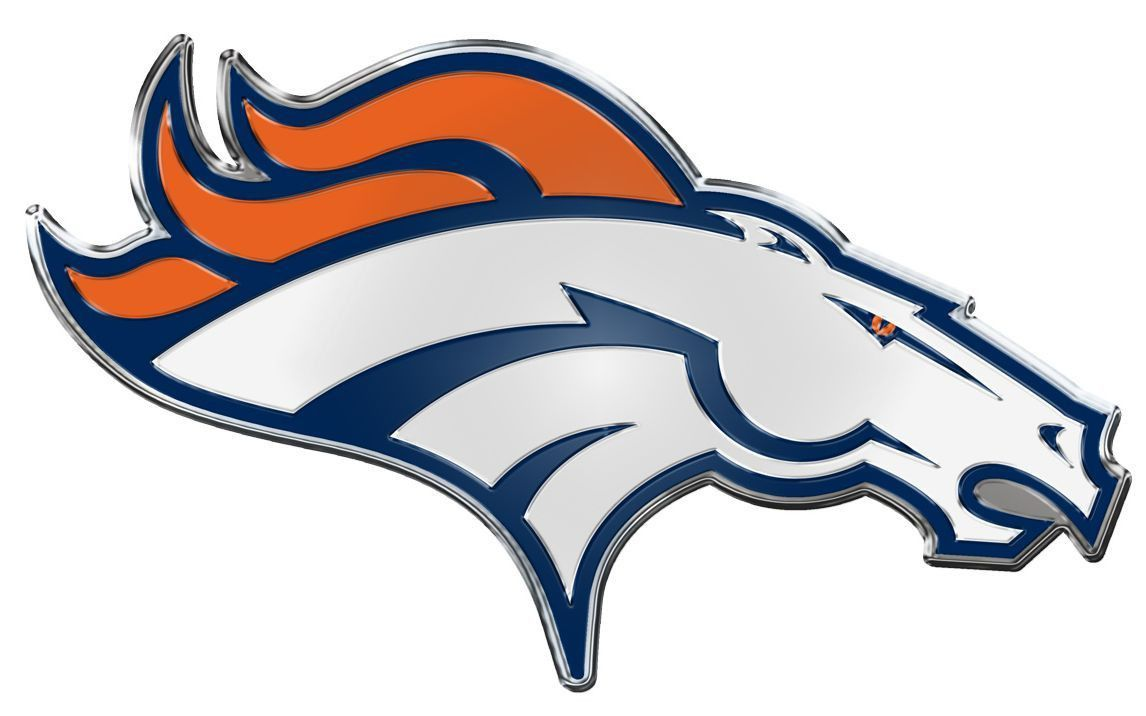 1146x716 Denver Broncos Die Cut Color Auto Emblem Products