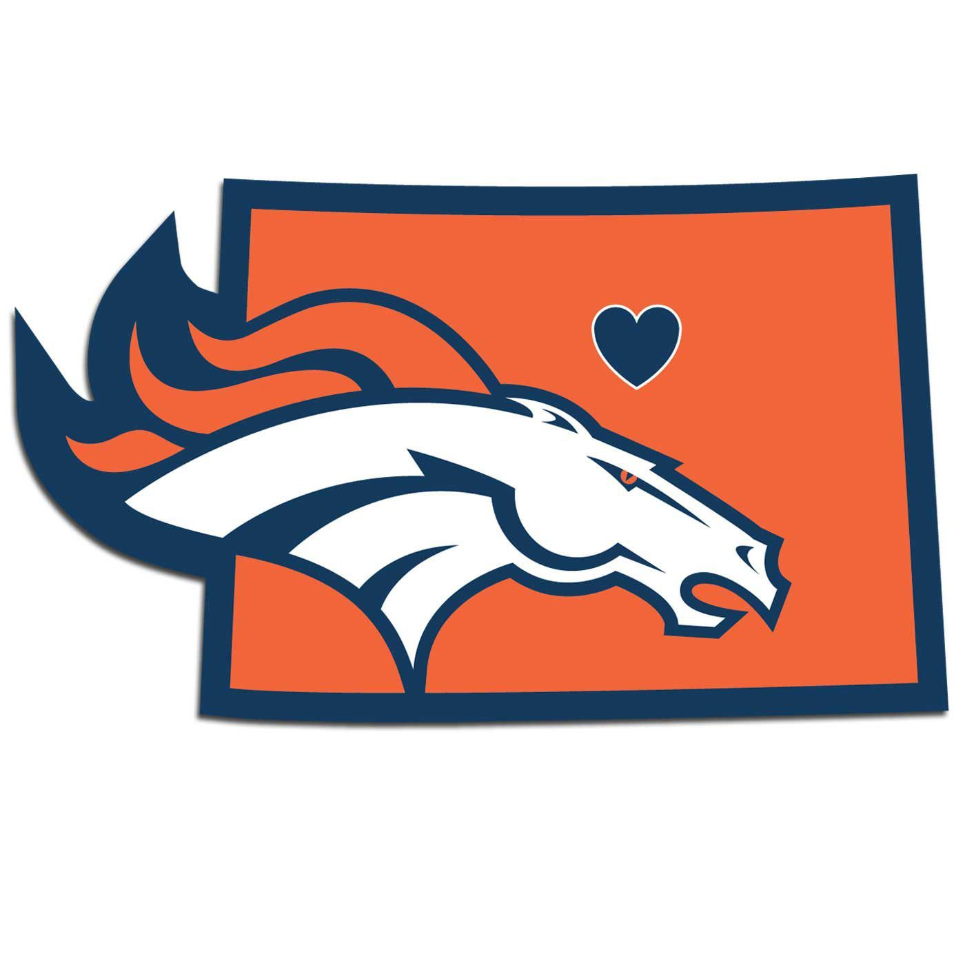 1400x1400 It's A Home State Decal With A Sporty Twist! This Denver Broncos