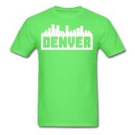 190x190 Denver Colorado Skyline Silhouette By Kwg2200 Spreadshirt