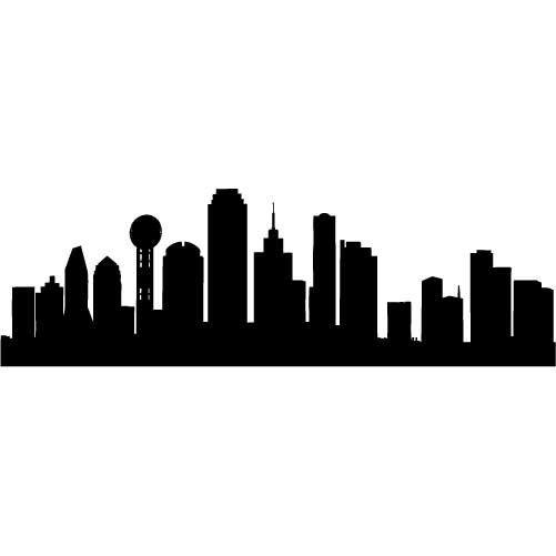 501x501 Texas Skyline Clipart