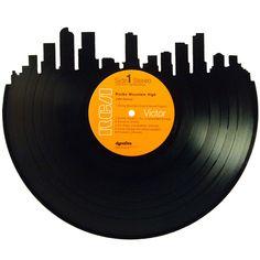 236x236 Denver Skyline Silhouette