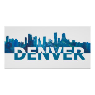 307x307 Denver Skyline Art Amp Framed Artwork Zazzle