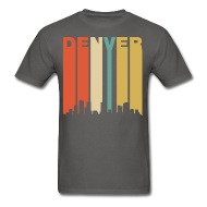 190x190 Retro Denver Colorado Cityscape Downtown Skyline T Shirt Spreadshirt