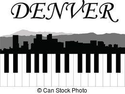 258x194 Denver Skyline Silhouette