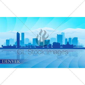 325x325 Denver City Skyline Silhouette Background Gl Stock Images