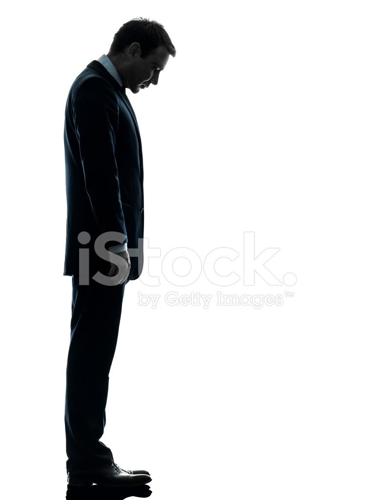 766x1024 Sad Business Man Looking Down Silhouette Stock Photos