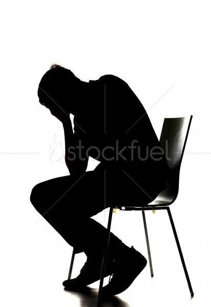 412x600 Depressed Man Silhouette Stock Photo Stockfuel