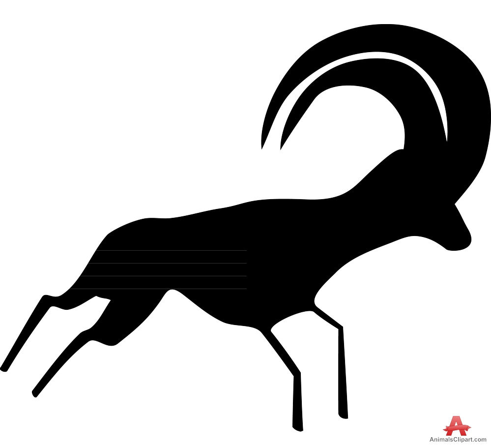 999x905 Desert Antelope Silhouette Free Clipart Design Download