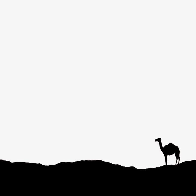 650x650 Desert Silhouette, Black, Desert, Camel Png Image And Clipart