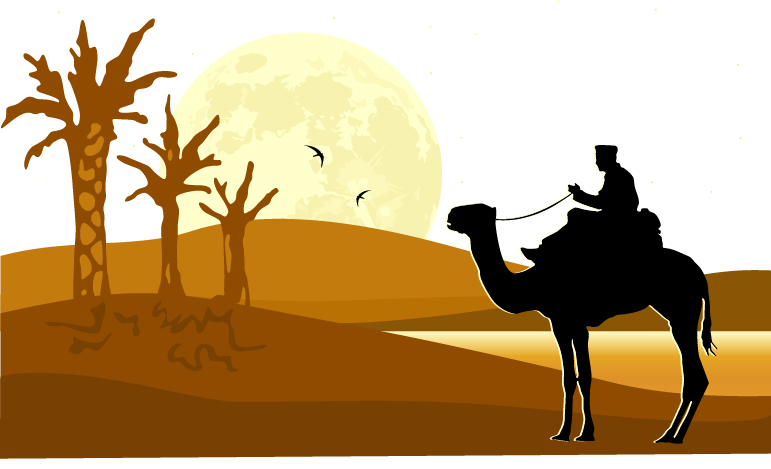 771x469 Camel Desert Silhouette Illustration