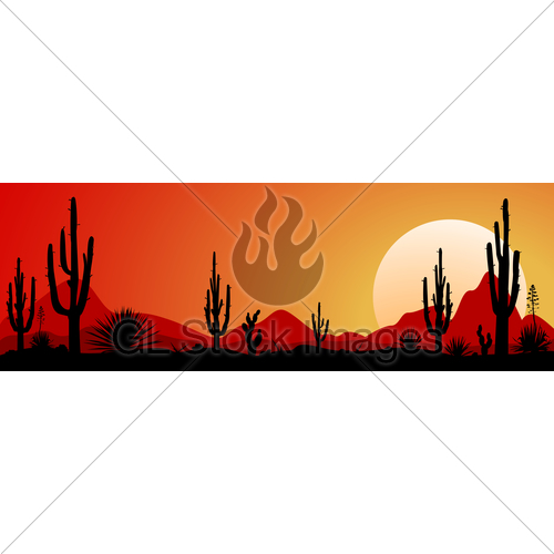 500x500 Mexico Desert Sunset 1 Gl Stock Images