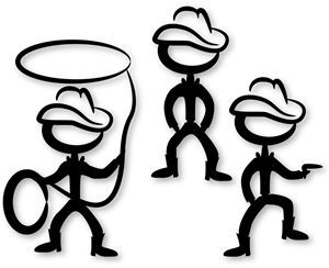 300x244 Pin By Roberta Joy On Silhouette Shapes Cow Boys