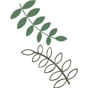 300x300 Silhouette Design Store Leafy Branches Templates