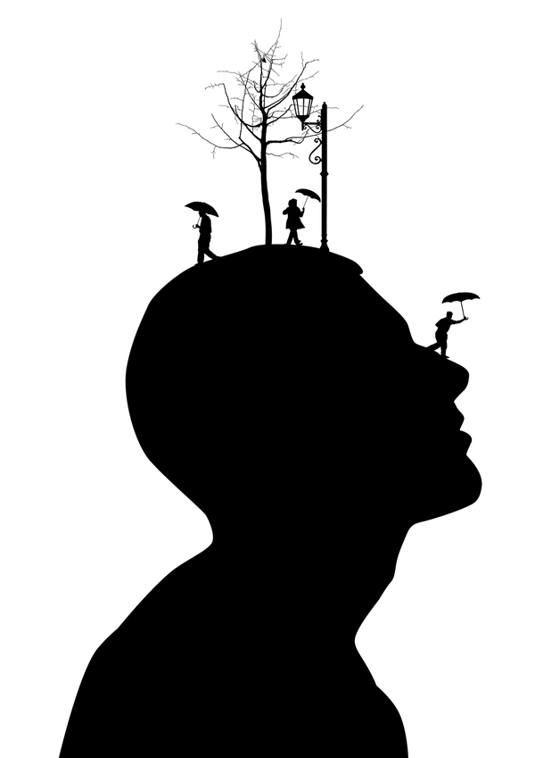 600x849 Daydreams Come Alive Atop Silhouetted Heads Daydream, Silhouette