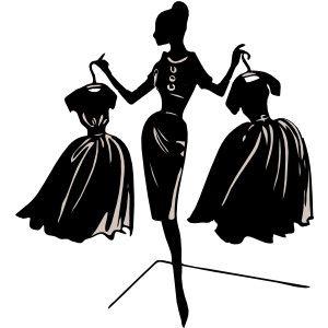 300x300 Fashion Designer Silhouette Clip Art Clothes