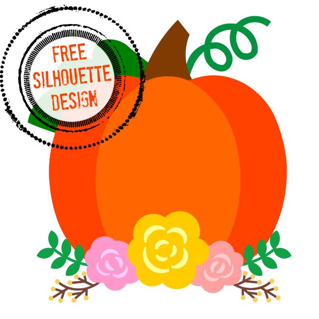 650x650 Free Silhouette Pumpkin Design