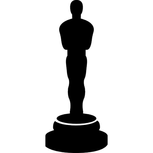 626x626 Super Oscar Statue Outline Prize Silhouette Free Vectors Logos