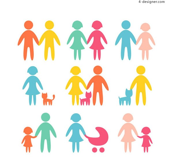 600x572 4 Designer Silhouette Of Colorful Characters