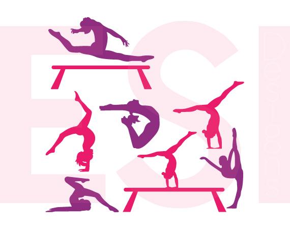 570x450 Gymnast Silhouette Designs