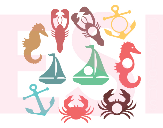570x450 Nautical Silhouette And Monogram Designs By Esi Designs
