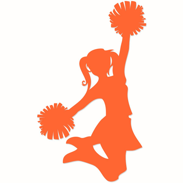 600x600 Cheerleading Silhouette Cuttable Designs