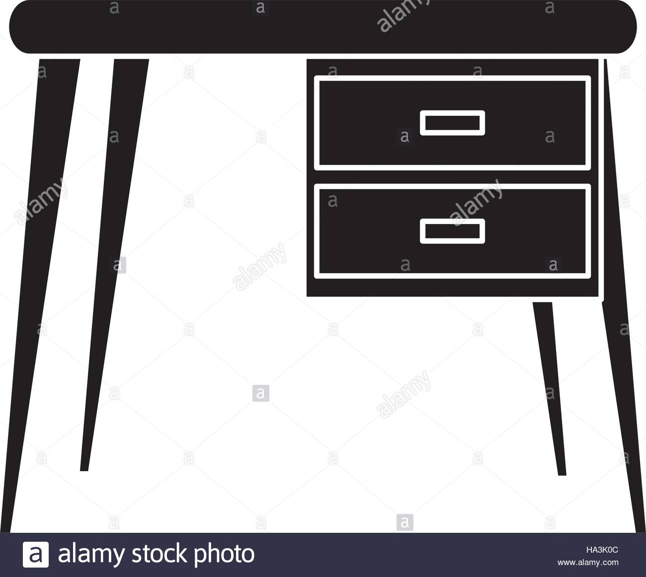 1300x1162 Silhouette Desk Office Work Place Icon Stock Vector Art
