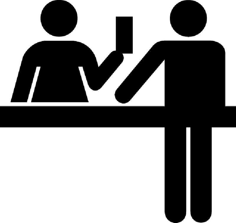 800x756 Desk, People, Silhouette, Money, Ticket, Exchange