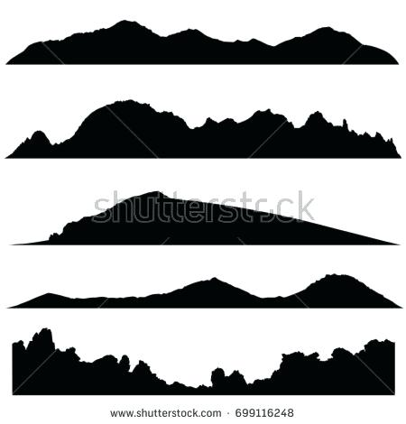 450x470 Mountain Landscape Silhouette Wide Semi Detailed Panoramic