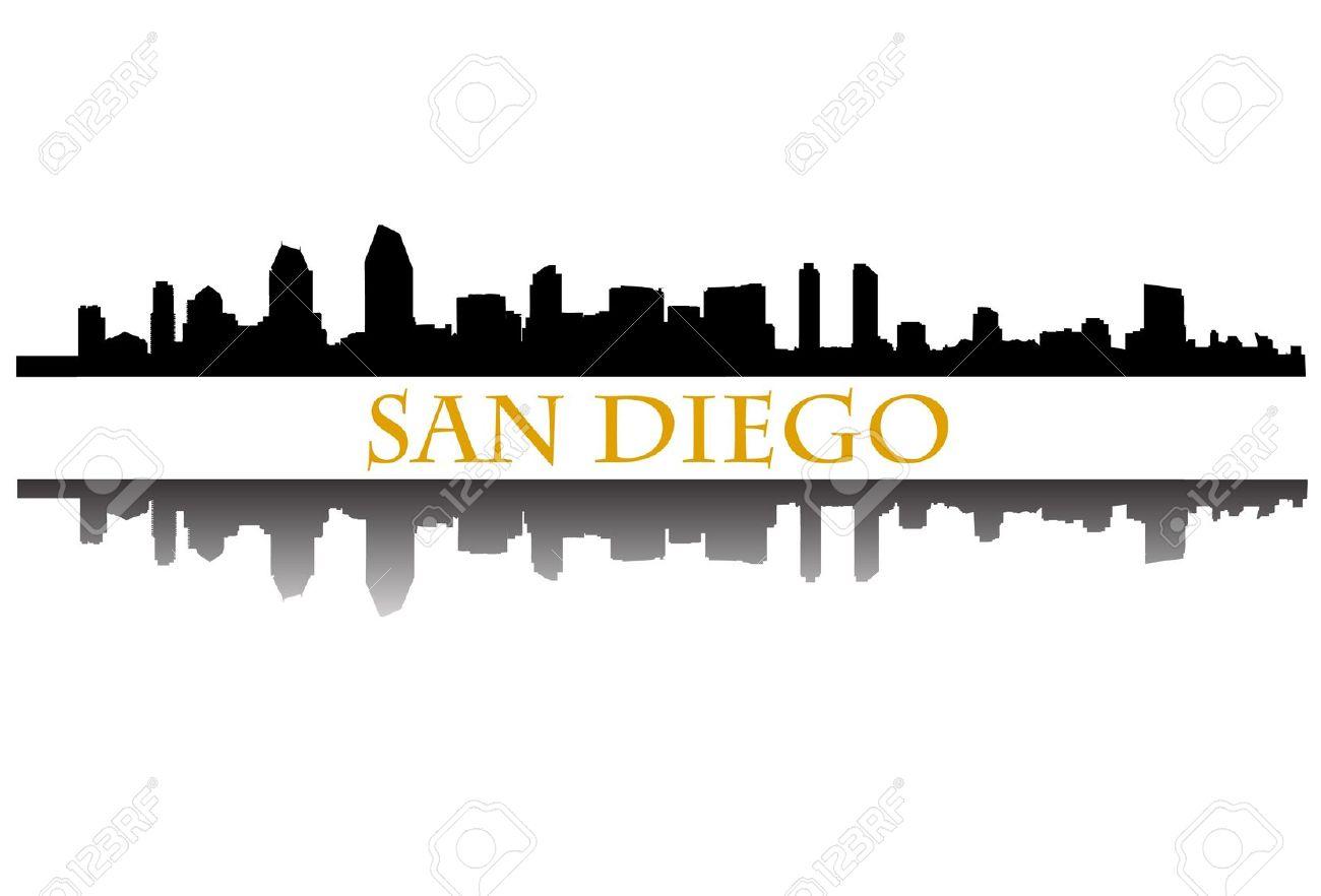 1300x882 San Diego Clipart San Diego Skyline Drawing 3871448